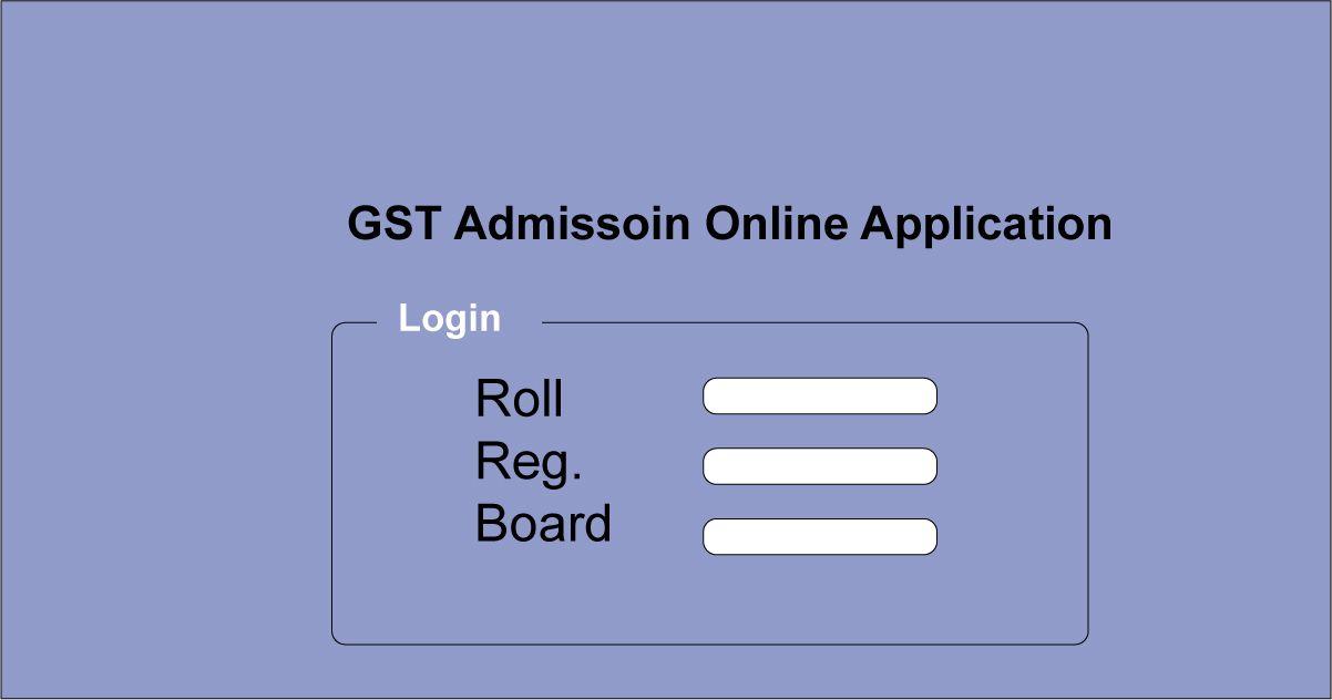 GST Admission Online Application Form