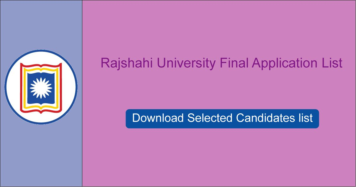 RU Admission Selected Candidates list
