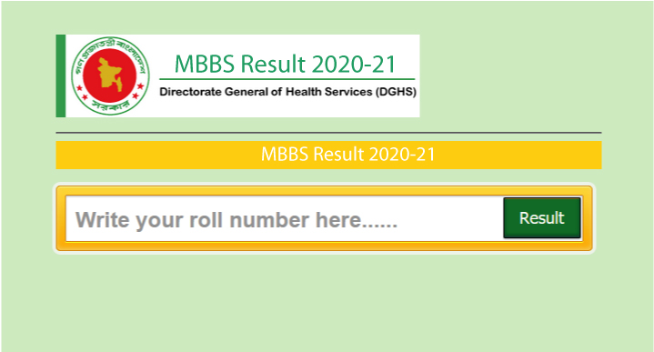 Medical Admission Result 2021
